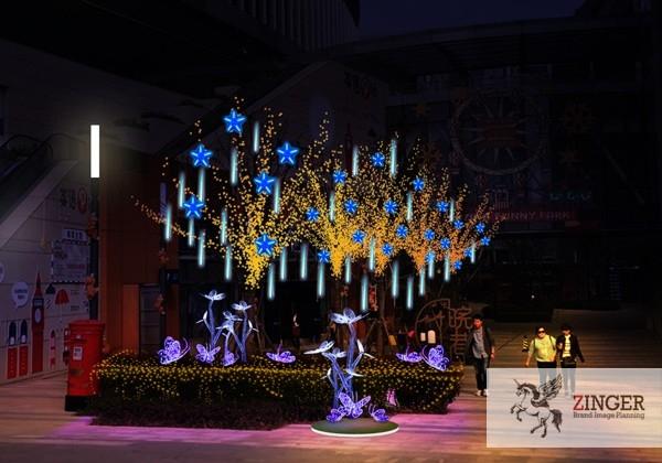 上海左学品牌策划-商场美陈-上海美陈设计公司-圣诞美陈灯光景观万象城美陈设计-(1)